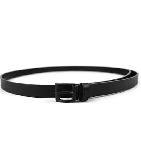 Gucci Men's Black Leather Square Buckle Belt 220077 1000 (105 / 42)