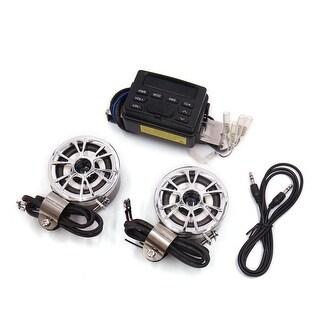 Universal Motorcycle Handlebar Mount Audio Radio Stereo Amplifier Speaker Kit