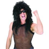 Headbanger Costume Wig Black