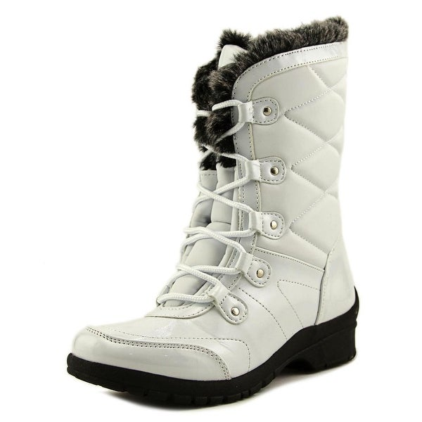 Khombu Avon Women Round Toe Synthetic White Snow Boot