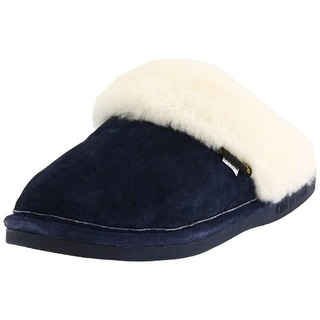 Old Friend Womens Suede Casual Scuff Slippers - 5-6