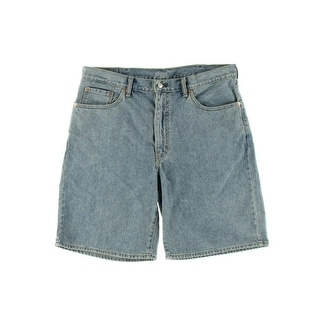 Levi's Mens Light Wash Flat Front Casual Shorts