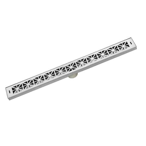"LUXE Linear Drains 26RN 26"" Roman Pattern Grate Linear Shower Drain -"