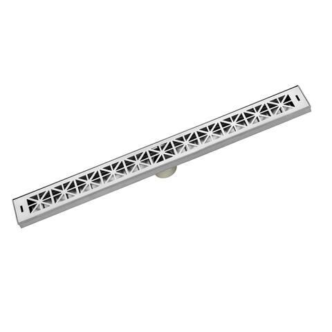"LUXE Linear Drains 60RN 60"" Roman Pattern Grate Linear Shower Drain -"