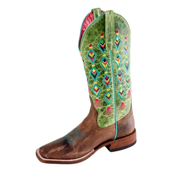 Macie Bean Western Boots Womens Fiesta Siesta Roper Bone Mad Dog