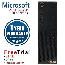 Refurbished Lenovo ThinkCentre M90P SFF Intel Core I5 660 3.33G 8G DDR3 320G DVDRW Win 7 Pro 1 Year Warranty