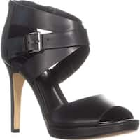 Marc Fisher Marnia Peep Toe Ankle Buckle Sandals, Black
