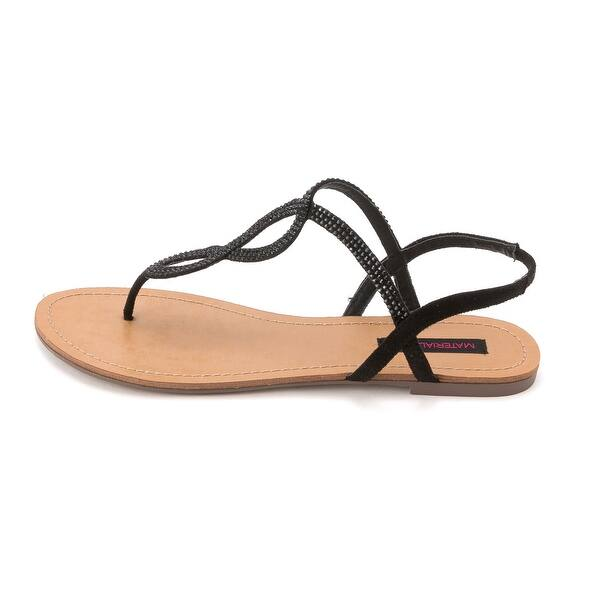 Material Girl Womens SELENA Open Toe Casual Slingback Sandals