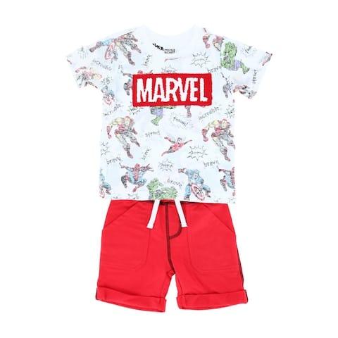 Marvel Toddler Boy's Marvel Top and Short Set