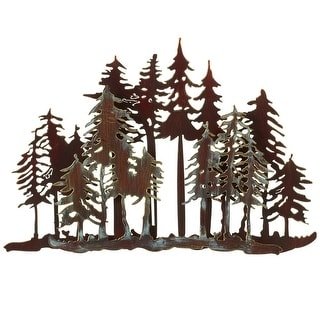 """Set of 4 Brown Distressed Finish Forest Themed Wall Decor 17.75"""" - N/A"""