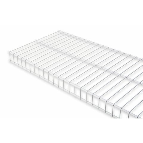 "Rubbermaid 3E0000 36"" Long Wire Shelf - White"