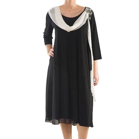LA MOUETTE Women's Plus Size Chic Cocktail Dress