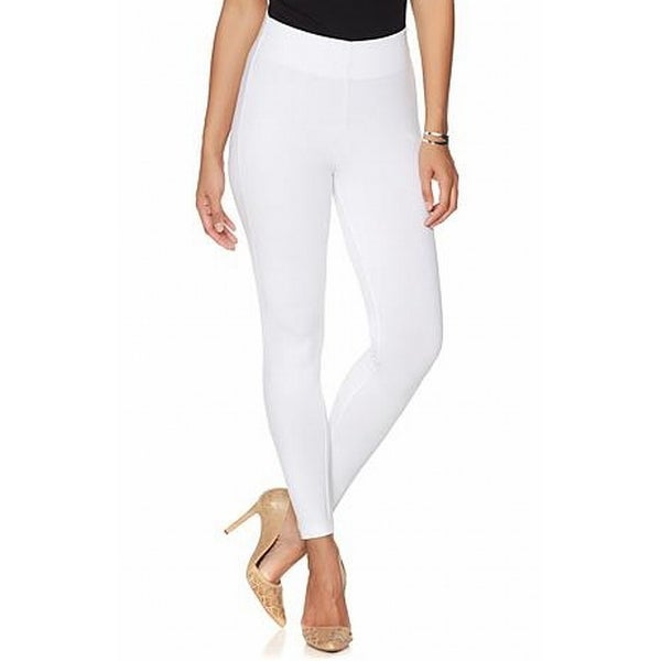 f64973d853 Shop Liz Lange NEW White Women's Size Large L Hollywood Waist Leggings -  Free Shipping On Orders Over $45 - Overstock.com - 19436545