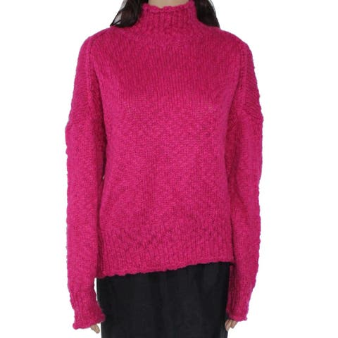 525 America Womens Sweater Pink Size Medium M Mock-Neck Pullover