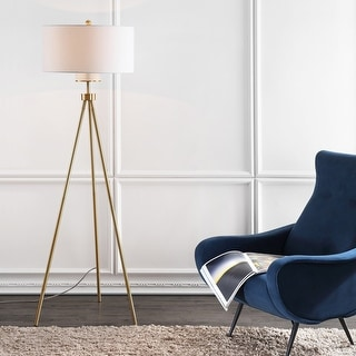 "Link to Safavieh Lighting 66-inch Enrica Tripod LED Floor Lamp - 25"" x 25"" x 66"" Similar Items in Floor Lamps"