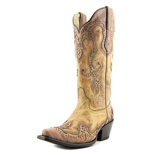 Corral G1201 Women Pointed Toe Leather Tan Western Boot