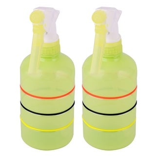 Home Vegetable Plant Flower Water Trigger Spray Bottle Green Yellow 400ml 2pcs - green yellow - green yellow