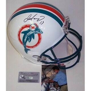 Dan Marino Autographed Hand Miami Dolphins Throwback Full Size Helmet  PSADNA