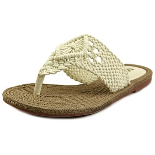 Mia Nefeli Open Toe Canvas Thong Sandal