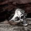 Vienna Jewelry The Terminator's Skull Stainless Steel Ring - Thumbnail 2