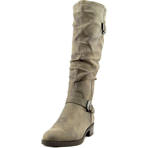 White Mountain Chip Women Round Toe Synthetic Gray Knee High Boot