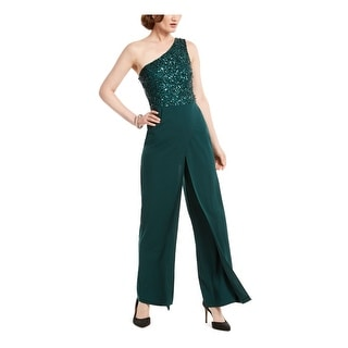 Link to ADRIANNA PAPELL Green Sleeveless Wide Leg Jumpsuit  Size 12 Similar Items in Outfits
