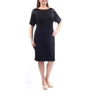 CALVIN KLEIN $159 Womens New 1098 Black Sequined Shift Dress Plus 22W B+B