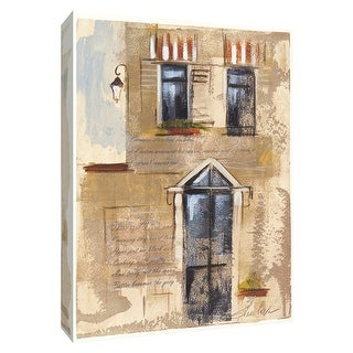 """PTM Images 9-154874  PTM Canvas Collection 10"""" x 8"""" - """"Notes from a Voyage II"""" Giclee Houses Textual Art Print on Canvas"""