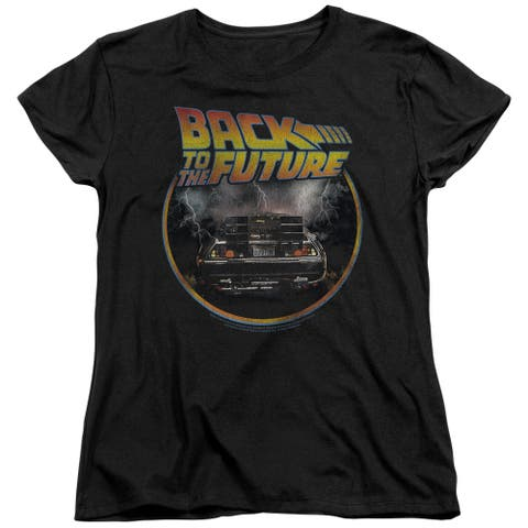 Back To The Future Back Womens Short Sleeve Shirt