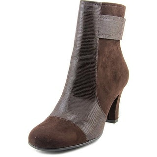A2 By Aerosoles Remote Controle Round Toe Canvas Ankle Boot