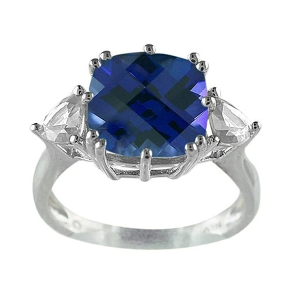 Fine Jewelers Womens Right-Hand Ring Sterling Silver Sapphire - Blue