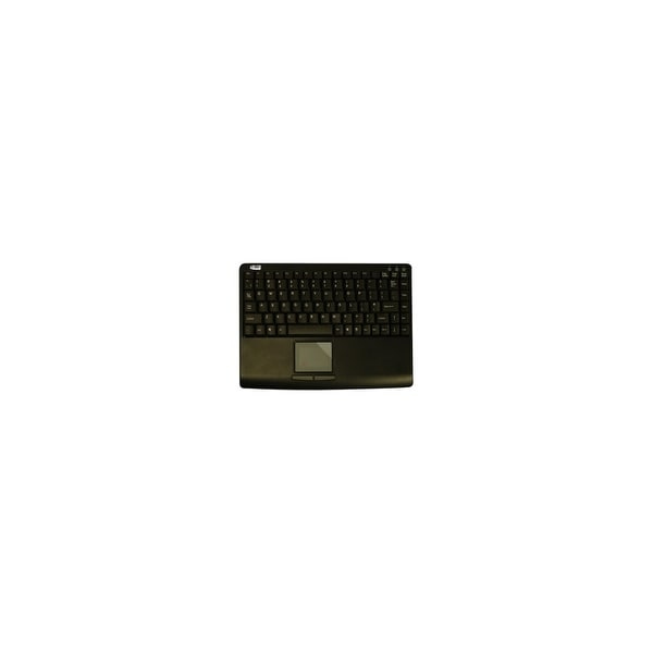 Adesso AKB-410UB Adesso AKB-410UB Slim Touch Mini Keyboard with Built in Touchpad - USB - 88 Keys - Black