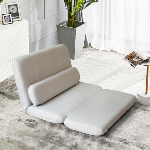 Foldable Sofa Bed Rest Room Floor Mattress with Pillow