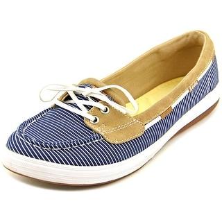 Keds Glimmer Women W Moc Toe Canvas Blue Boat Shoe