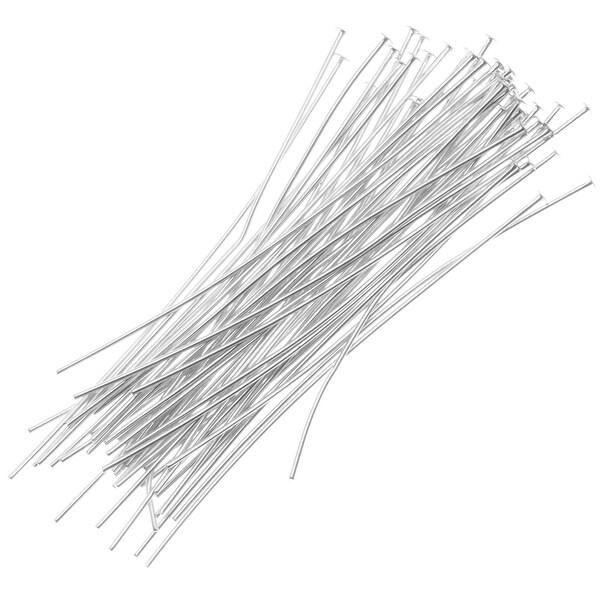 Sterling Silver Head Pins 26 Gauge 1 Inch (20)