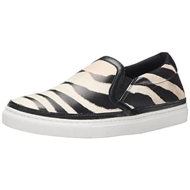 Just Cavalli Womens Zebra Driver Leather Zebra Print Loafers - 38 medium (b,m)