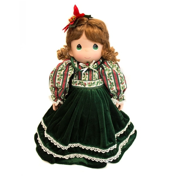 Collectible Plush Precious Moments Christmas Doll with Stocking