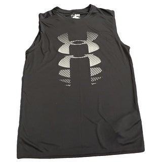 Under Armour 1274431 UA Tech Boys Sleeveless HeatGear T-Shirt BLACK YXL