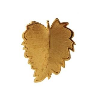 Dolce & Gabbana Gold Plated Brass Leaf Brooch