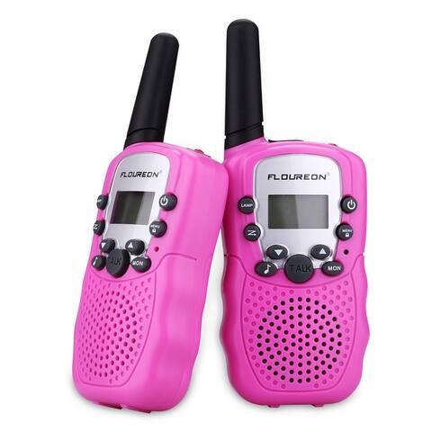 FLOUREON 22 Channel Twin Walkie Talkies UHF462-467MHZ 2-Way Radio 3 Km Range