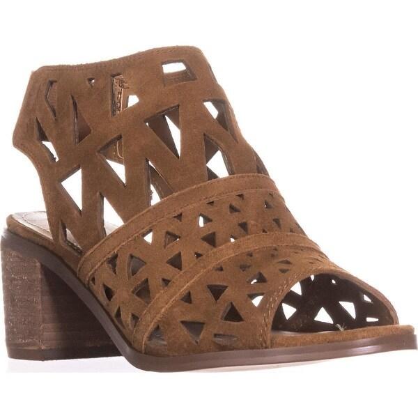Steve Madden Estee Perforated Slingback Sandals, Cognac
