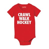 Crawl Walk Hockey Cool Funny Infant One Piece