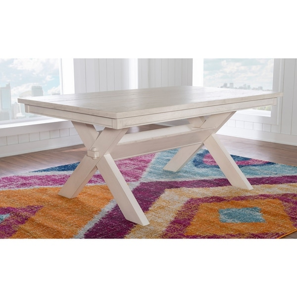 Chester Rustic Farmhouse Dining Table - N/A. Opens flyout.