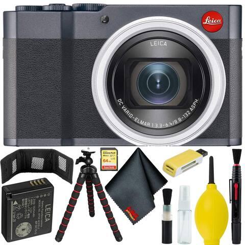 Leica C-Lux Digital Camera (Midnight Blue) Bundle w/ 64GB Memory Card - w/ 64GB Memory Card + Accessories