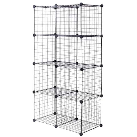 DIY 8 Cube Grid Wire Cube Shelves