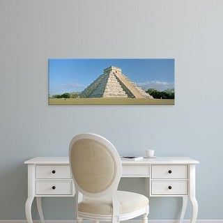 Easy Art Prints Panoramic Images's 'El Castillo Pyramid, Chichen Itza, Yucatan, Mexico' Premium Canvas Art