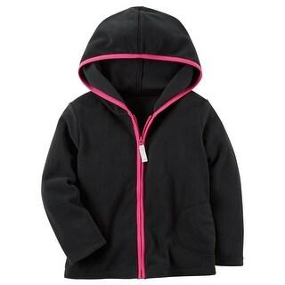Hello Kitty Girls Fleece Cardigan with Functional Back Zip Pocket