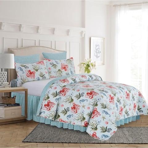 Behari Coastal Twin Quilt Set