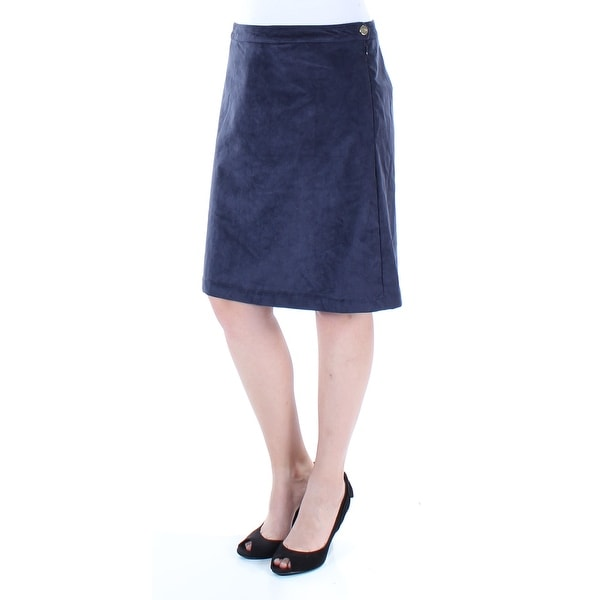 f017b5ba49 Shop TOMMY HILFIGER Womens Navy Knee Length A-Line Skirt Size: 4 - On Sale  - Free Shipping On Orders Over $45 - Overstock - 21241940