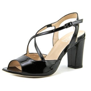 1,618 5216   Open-Toe Patent Leather  Slingback Heel